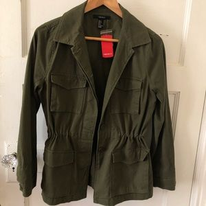 NWT Collared Army Jacket